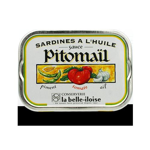 La belle-iloise - Sardines met pitomaïl Millésimées 2018