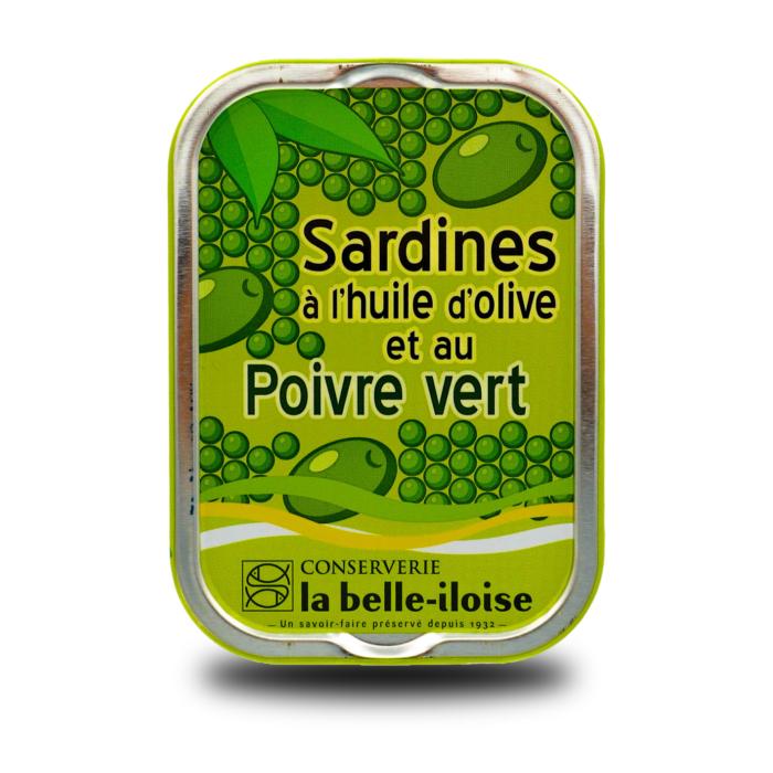 La belle-iloise – Sardines op olijfolie met groene peper Millésimées 2018