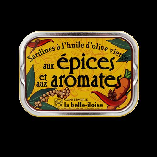 La belle-iloise - sardines met olijfolie, kruiden en specerijen