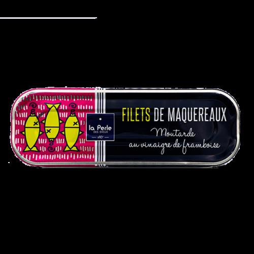 La Perle des Dieux- Makreelfilet in mosterd met frambozenazijn 169gr.