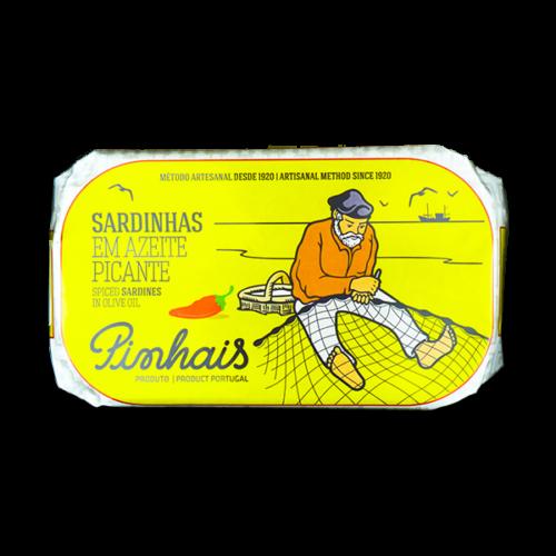 Pittige sardines op olijfolie